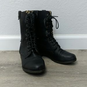 Bella Marie Black Boots with Camo lining